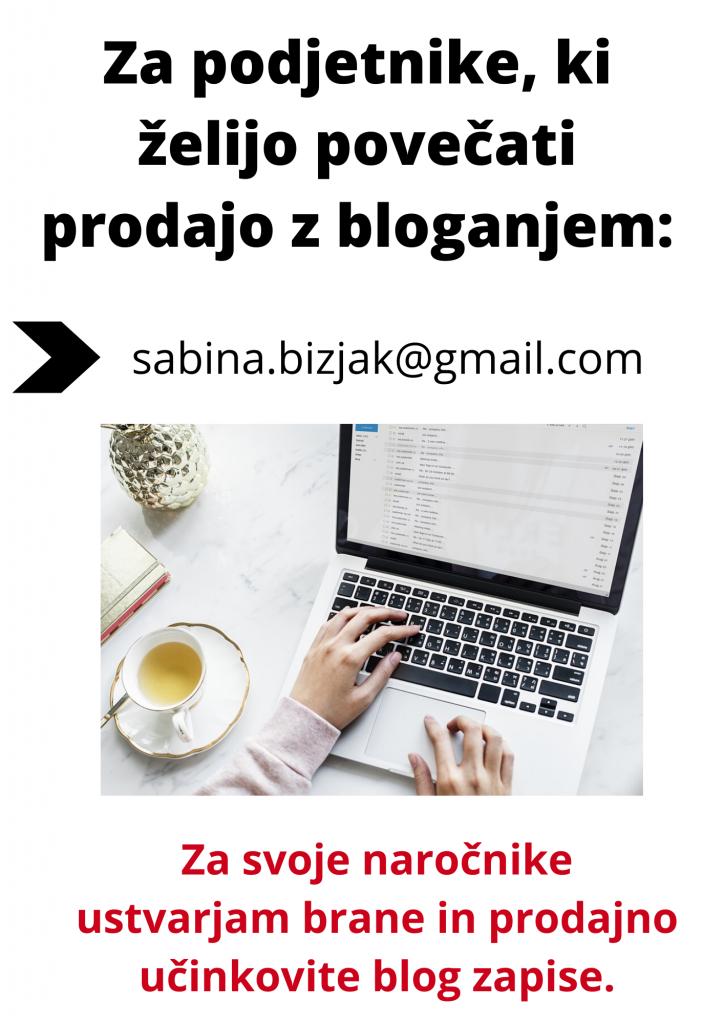 Kako pisati blog - sabinabizjak.com
